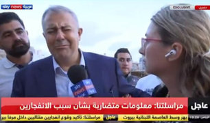 VIDEO: Gobernador de Beirut llora tras recorrer zona devastada por explosión