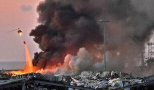 Gran explosión en Beirut deja al menos 73 muertos y 3 700 heridos