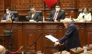 Congreso emite comunicado tras rechazo de la confianza al Gabinete Cateriano