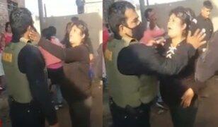 Lambayeque: Mujer en estado de ebriedad se resiste a ser intervenida y agrede a policía