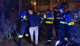 San Luis: Extranjero llora al ser detenido luego de robar en una peluquería