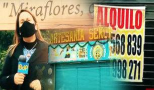 Miraflores: sin turismo negocios se ven afectados por la pandemia