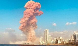 [FOTOS] Beirut: casi 2,750 toneladas de nitrato de amonio produjeron la explosión