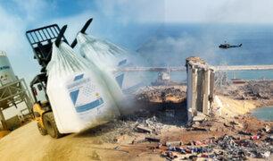 Explosión en el Líbano: Georgia reconoce haber producido el nitrato de amonio que causó tragedia