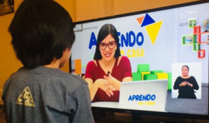 """""""Aprendo en casa"""": se estrenará programa para estudiantes con discapacidad severa"""