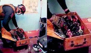 Huancayo: hallan cajas con granadas de guerra durante intervención a prostíbulo
