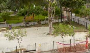 Miraflores: Placas de cemento reemplaza parte de áreas verdes en Parque Kennedy
