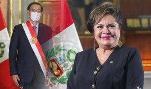 Excongresista Rosario Sasieta juró como nueva ministra de la Mujer