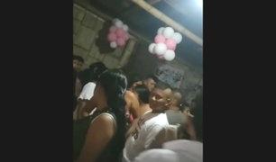 Tumbes: Policía es criticado por realizar fiesta para pedir mano de su novia