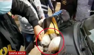 Santa Anita: intervienen a sujetos que trasladaban más de 10 kilos de pasta básica de cocaína