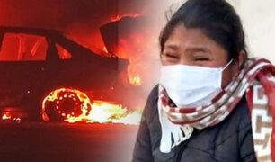 Arequipa: queman autos y asesinan a mascotas de Celia Capira