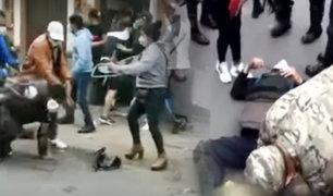 Cercado de Lima: ambulantes y serenos se enfrentan violentamente en Mesa Redonda