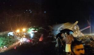 India: avión se parte en dos durante aterrizaje en Calcuta