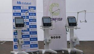 Covid-19: Confiep entrega 10 ventiladores mecánicos para reforzar atención a pacientes