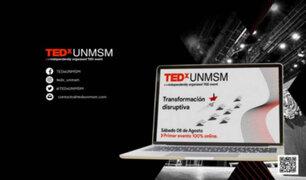 Esta tarde TEDX UNMSM realizará su primer evento 100% online: Transformación disruptiva