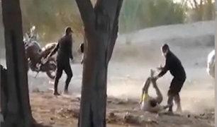 Piura: Policías intervienen de manera violenta a dos sujetos en estado de ebriedad