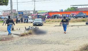 Sicarios asesinan de varios balazos a motociclista en Tumbes