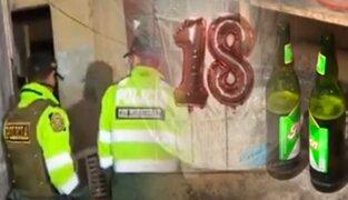Cercado de Lima: Intervienen a jóvenes en fiesta Covid-19 que era transmitida en vivo
