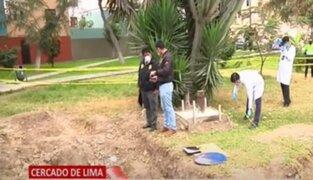 Cercado de Lima: Realizan diligencias en Parque Roma donde murió un niño tras caer a pozo