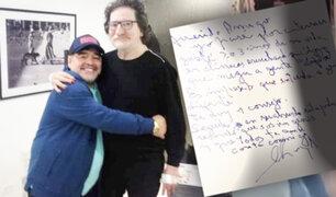 Charly García hizo emocionar a Diego Maradona con carta