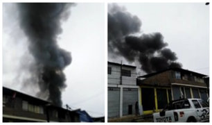 Villa el Salvador: reportan incendio de grandes proporciones en Parque Industrial