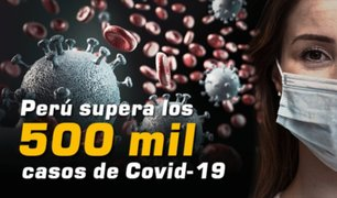 Coronavirus: Perú supera los 500 mil contagiados por Covid-19