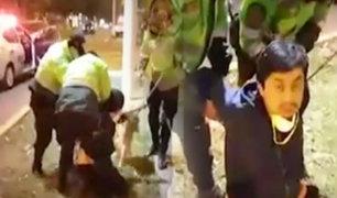 San Borja: policías detienen violentamente a un vecino tras confuso incidente
