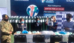 Covid-19: trasladan más de 100 balones de oxígeno y medicamentos a la región Moquegua