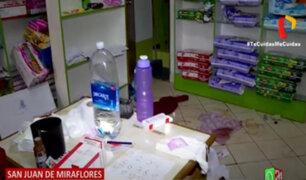 SJM: Acuchillan a dos hermanas que intentaron impedir asalto a su farmacia