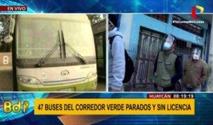 Corredor Verde: denuncian que modernos buses no pueden operar por falta de licencia