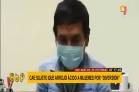Hombre que arrojó ácido a una mujer reconoce haber atacado a 20 más