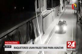 Pachacamac: delincuentes asaltan a joven en la vía pública