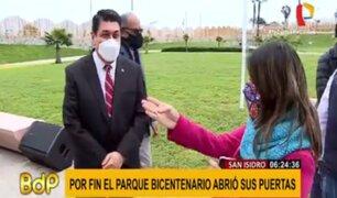 San Isidro: alcaldes de Miraflores y Lima no estuvieron en inauguración de Parque Bicentenario