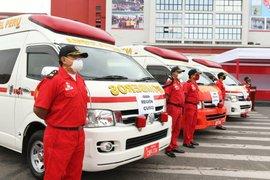 Mininter: Japón donó cinco vehículos de emergencia a los Bomberos del Perú
