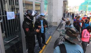 Arequipa: tres sedes del Banco de la Nación fueron cerradas por el coronavirus