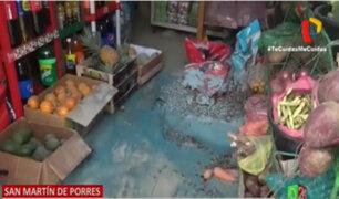 Lanzan explosivo contra tienda de abarrotes en San Martín de Porres