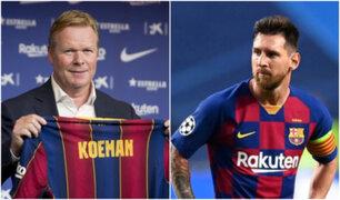 """Ronald Koeman sobre Lionel Messi: """"No sé si tengo que convencer a Messi"""""""