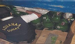 Tumbes: incautan 19 balones de oxígeno ocultos en un camión cargado de plátanos