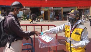 MTC entregó 3,000 protectores faciales a usuarios de transporte urbando en Cusco y Huaraz
