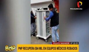 VES: recuperan en tiempo récord equipos médicos por más de 83 mil dólares