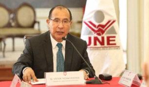 JNE plantea exclusión de partidos políticos que reciban financiamiento de la corrupción