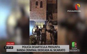 Callao: Policía desarticula presunta banda criminal dedicada al sicariato