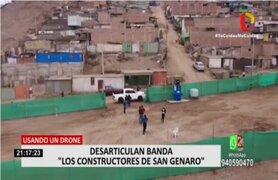 """PNP desarticula banda """"Los Constructores de San Genaro"""""""