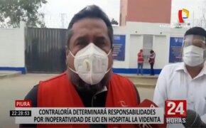 Contraloría determinará responsabilidades por inoperatividad de UCI en Hospital La Videnita
