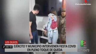 Los Olivos: Intervienen fiesta Covid-19 en pleno toque de queda