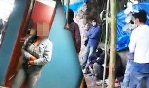 Cajamarca: 30 personas detenidas entre ellos menores bebiendo alcohol en fiesta
