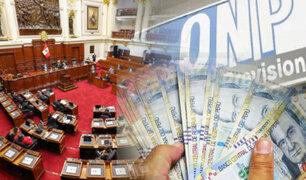ONP: Comisión de Presupuesto aprobó devolución de aportes y predictamen pasa al Pleno
