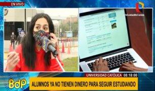 PUCP: alumnos exigen reducción de pensiones ante crisis por COVID-19