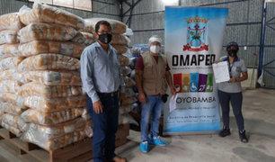 Covid-19: entregarán alimentos a más de 2,800 personas vulnerables en San Martín