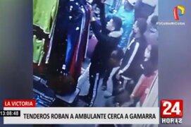 La Victoria: tenderos se aprovechan de las calles de Gamarra para robar a ambulantes